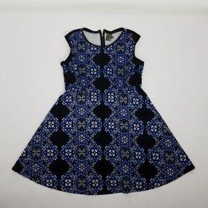 Taylor Sleeveless Midi Dress Plus Sz 14W Blue B6